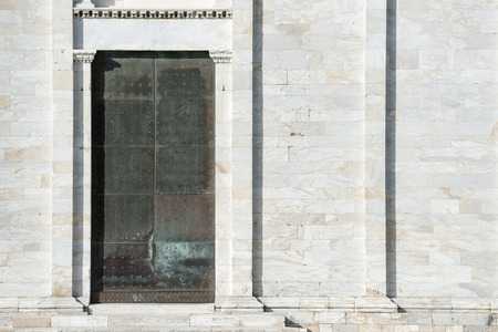 camposanto: Picture of a door of Camposanto Monumentale in Pisa, Italy Stock Photo