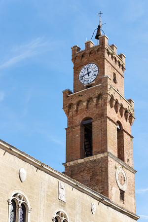 Palazzo Comunal of Pienza in Tuscany, Italia, Europe photo