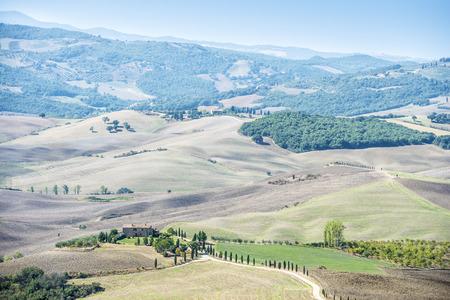 Landscape near Pienza in Tuscany, Italy Stock Photo - 26261565