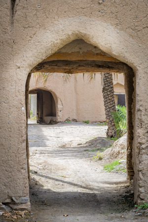 birkat: Image of an archway in Birkat al mud in Oman