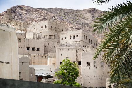 Buildings of Birkat al mud in Oman Stock Photo