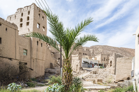 Image buildings of Birkat al mud in Oman photo