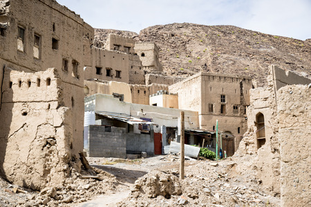 Image of ruins Birkat al mud in Oman photo