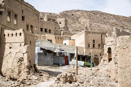 birkat: Image of ruins Birkat al mud in Oman
