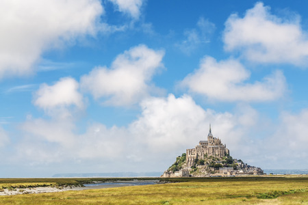 View to Mount St Michel in Normandy, France photo