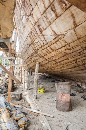 handiwork: Traditional handiwork shipbuilding Sur Oman