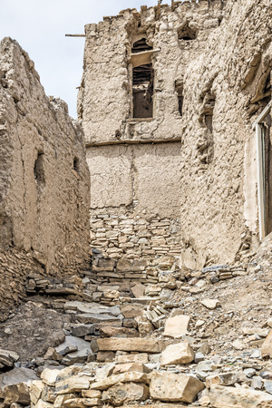Image of ruins in Birkat al mud in Oman Stock Photo