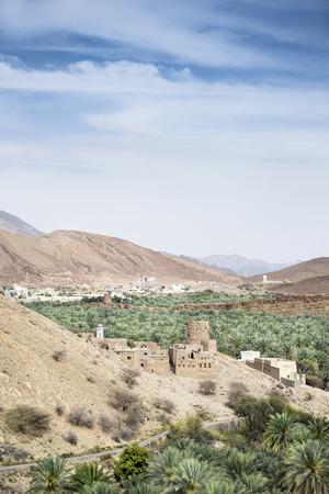 birkat: Image of view Birkat al mud in Oman Stock Photo