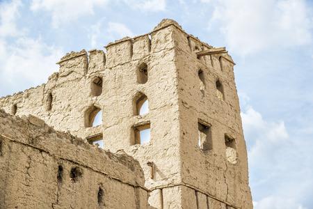 birkat: Image of clay architecture in Birkat al mud in Oman Stock Photo
