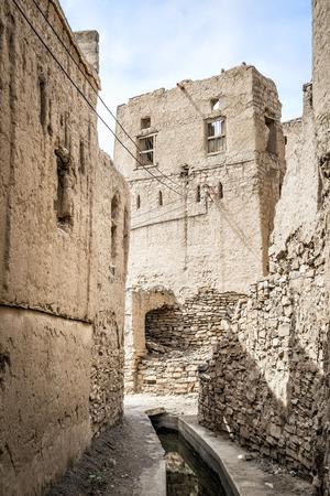 birkat: Image of narrow alley in Birkat al mud in Oman