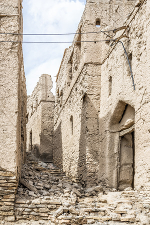 birkat: Image of ruins in Birkat al mud in Oman Stock Photo