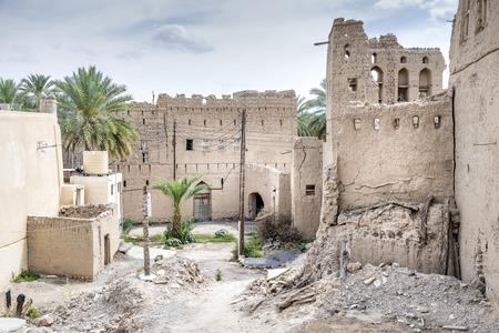 Afbeelding ruïnes Birkat al modder in Oman