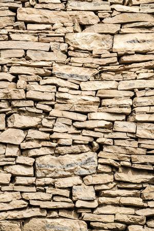 Image of a part of a wall in Birkat al mud in Oman