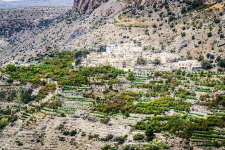 Image of landscape Saiq Plateau in Oman Stock fotó - 29982386