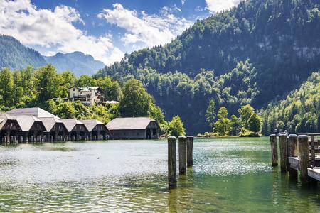 berchtesgaden: Lake Koenigssee in Berchtesgaden, Bavaria, Germany