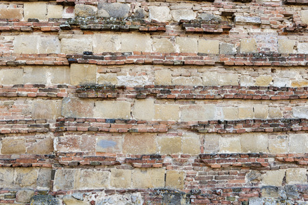 montepulciano: abstract image of the wall of a house in Montepulciano, Tuscany, Italy