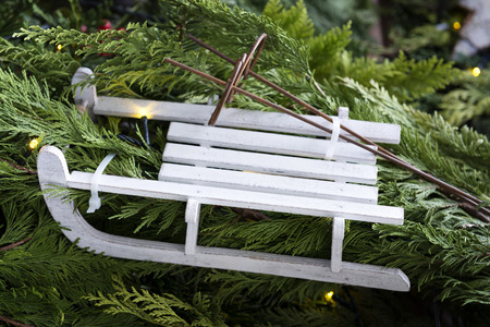 slideshow: Image of a slideshow as a decoration on a Christmas market Stock Photo