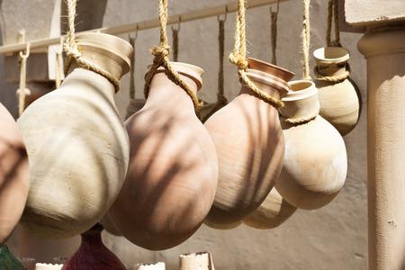 pottery: Pottery on the market of Nizwa, Oman