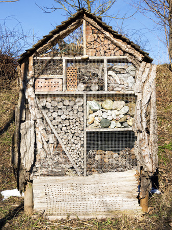 artificially: Image of artificially created to house for insects