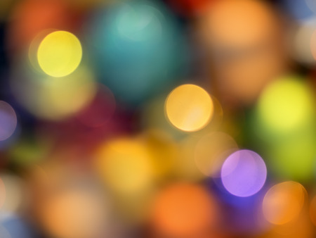 colorful lights: Bokeh with colorful lights
