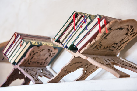 Arabian bookstand in Oman, middle east
