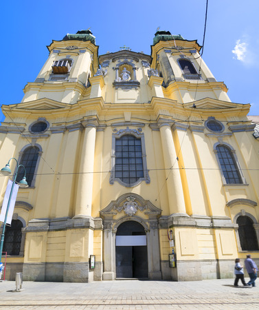 linz: Ursuline Church in Linz, Austria Stock Photo
