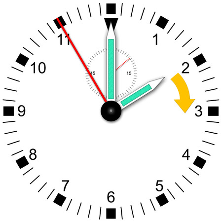 Illustration of a watch for change wintertime