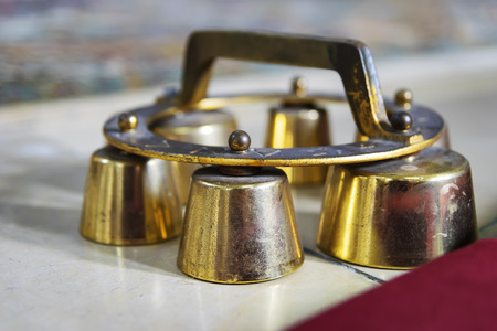 sacramental: Image of altar bells in a catholic church in Bavaria, Germany Stock Photo