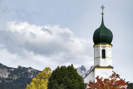 Image of the Curch in Graen in Austria, Tyrol, Tannheimer Tal Stock fotó