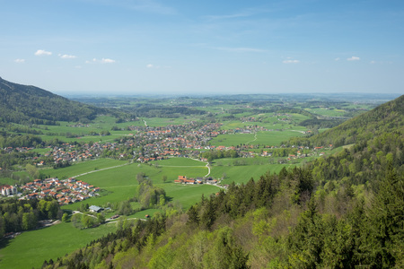 View from Kampenwand in spring