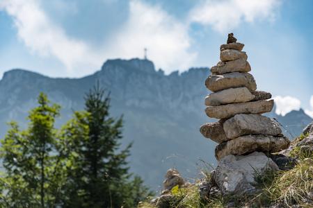 Beautiful landscape Kampenwand in Bavaria Alps in Summer Stock Photo