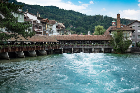 View of the city Thun in Swiss Banque d'images