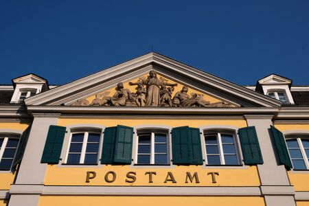 Image of the facade of the old post office in Bonn, Germany