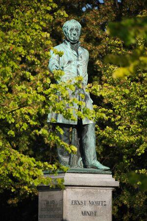 Statue of Ernst Moritz Arndt at Alter Zoll in Bonn, Germany Stock Photo