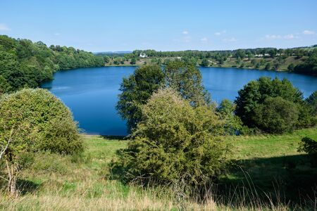 Image of lakes and maar in the famous area volcanic eifel in Germany in summer
