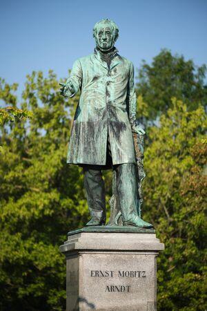 Statue of Ernst Moritz Arndt at Alter Zoll in Bonn, Germany Stock fotó