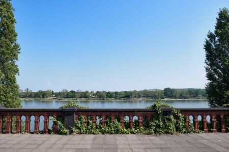 Image of view to river Rhine in Bonn, Germany in summer Stock fotó