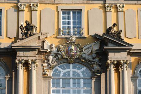 Detail image facade of Koblenzer Tor in Bonn, Germany