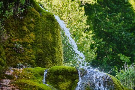Image of the famous waterfalls and landscape in region Nohn in Germany in summer Stock Photo