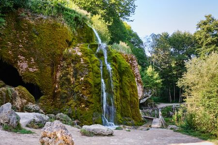 Image of the famous waterfalls and landscape in region Nohn in Germany in summer Stock fotó