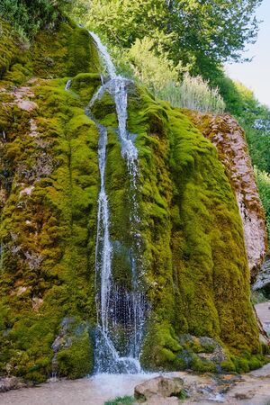 Image of the famous waterfalls and landscape in region Nohn in Germany in summer Banco de Imagens