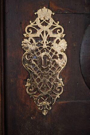 Image of a artful historic doorlock in Brixen, Italy