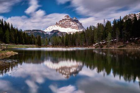 Image of landscape near tre cime di lavaredo in South Tirol in Italy