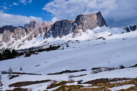 Image of wild rocks and mountains in South Tirol, Italy