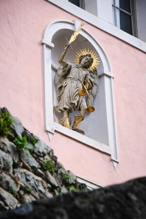 Image of a statue in monastery Saeben in South Tirol Italy
