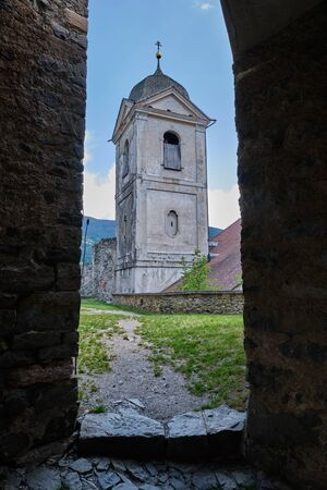 Image of a tower of monastery Saeben in South Tirol Italy