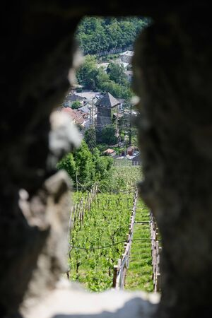 Image of details of monastery Saeben in South Tirol in Italy Stock fotó