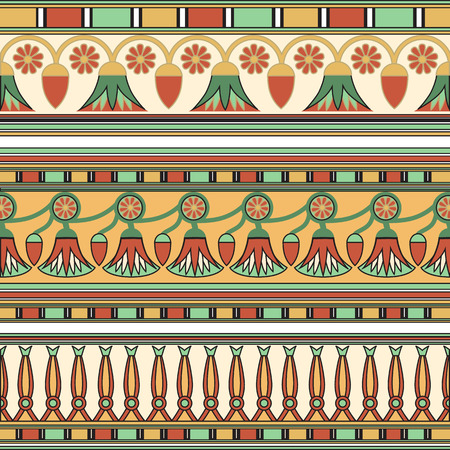 egyptian: Egyptian ornament. Collection. illustration