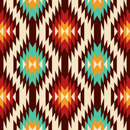 ethnicity: Ethnic Geometric Pattern. Vector Illustration