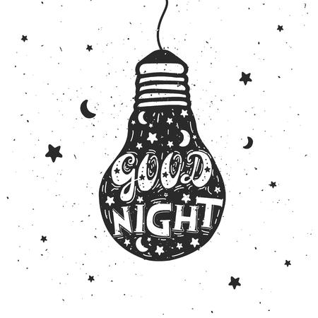 Bonne nuit letter.illustration